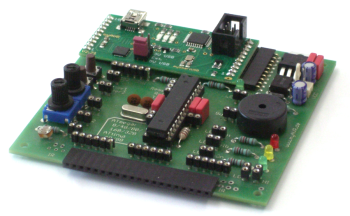 myAVR Board MK2, equipped