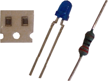 Infrared emitter diode (TSUS4300) and resistor