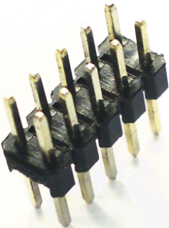 Multi-pin connector 2x5, RM 2.54, double row