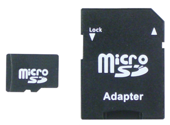microSD-card 2GB with adapter and case