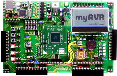 myAVR Board MK3 64K, equipped
