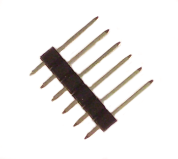 Multi-pin connector 6pole, single-row