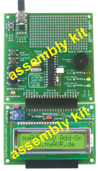 myAVR Board light PLUS, assembly kit