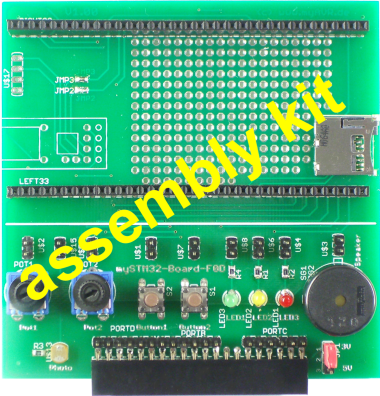 mySTM32-Board-F0D, assembly kit