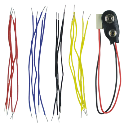 Patch cable with battery clip